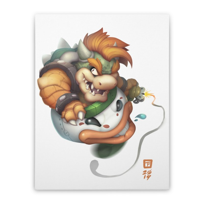Bowser Clown Car Home Stretched Canvas by TeeMaki