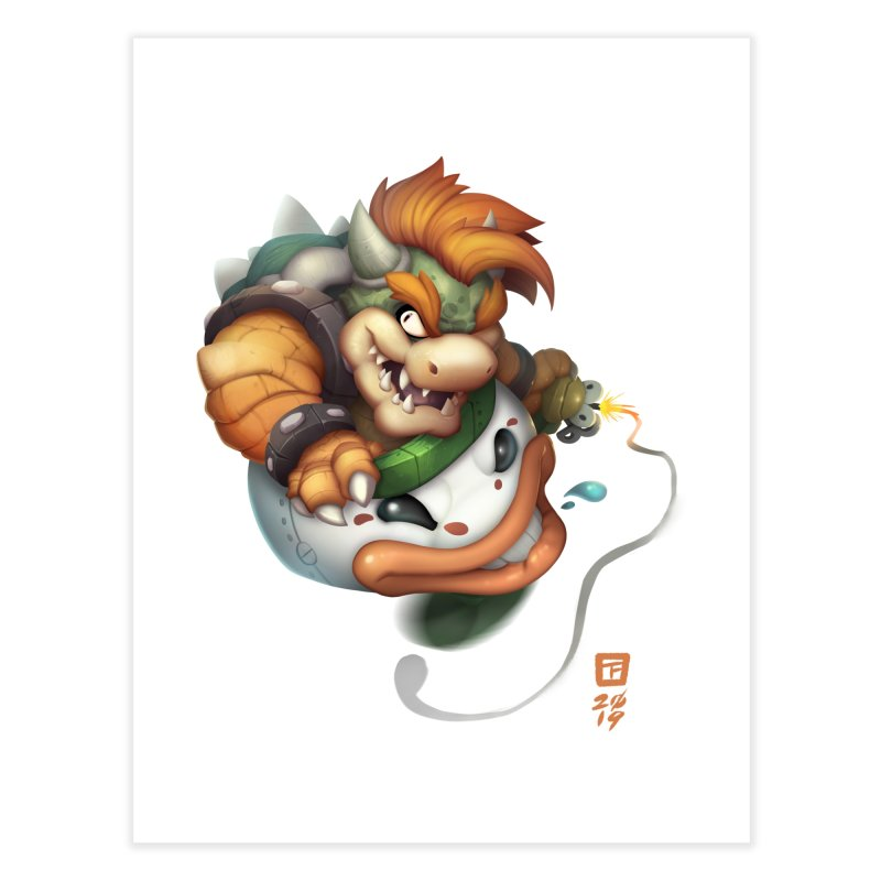 Bowser Clown Car Home Fine Art Print by TeeMaki