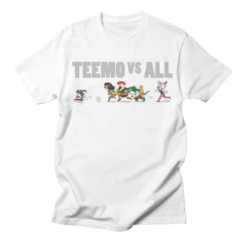 Teemo vs All Banner in Men's Regular T-Shirt White by Teemovsall Official shop
