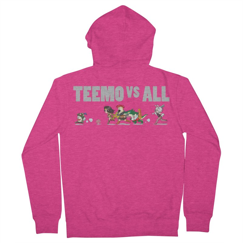 Teemo vs All Banner Women's French Terry Zip-Up Hoody by Teemovsall Official shop