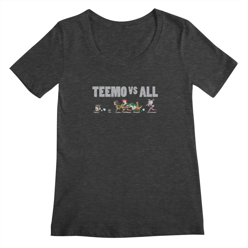 Teemo vs All Banner Women's Scoopneck by Teemovsall Official shop
