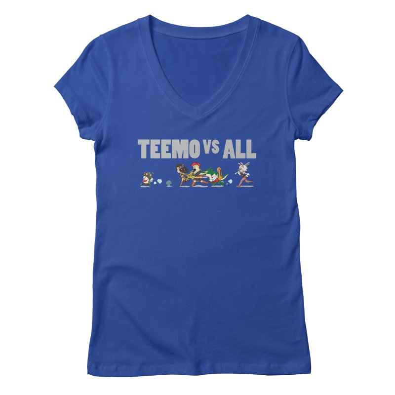Teemo vs All Banner Women's V-Neck by Teemovsall Official shop