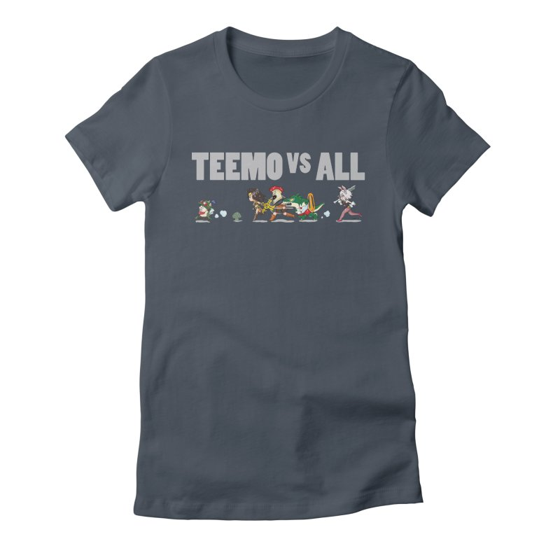 Teemo vs All Banner Women's Fitted T-Shirt by Teemovsall Official shop