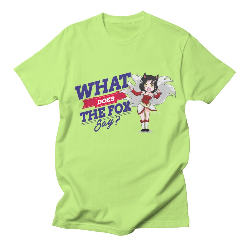 What does the fox say? Men's Regular T-Shirt by Teemovsall Official shop