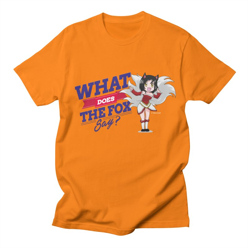 What does the fox say? Men's T-shirt by Teemovsall Official shop