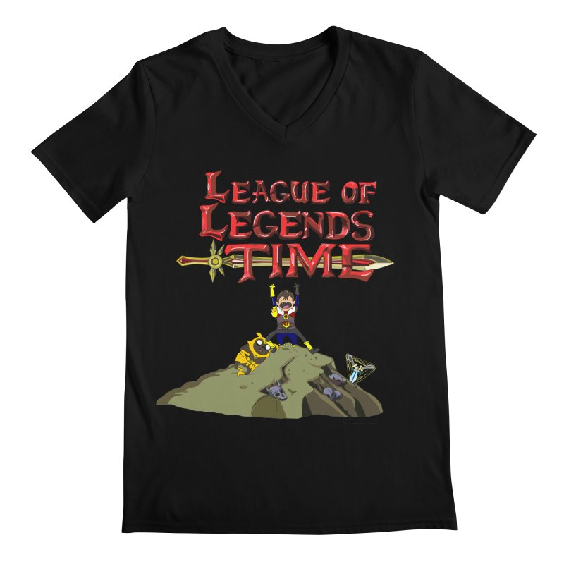 League of Legends Time Men's Regular V-Neck by Teemovsall Official shop