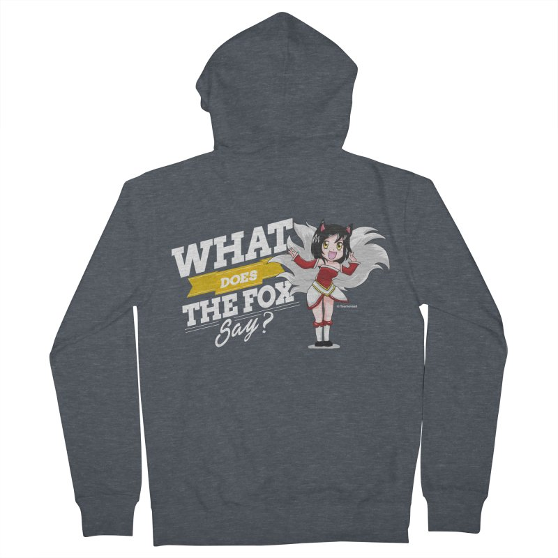 What does the fox say? (White edition) Women's French Terry Zip-Up Hoody by Teemovsall Official shop