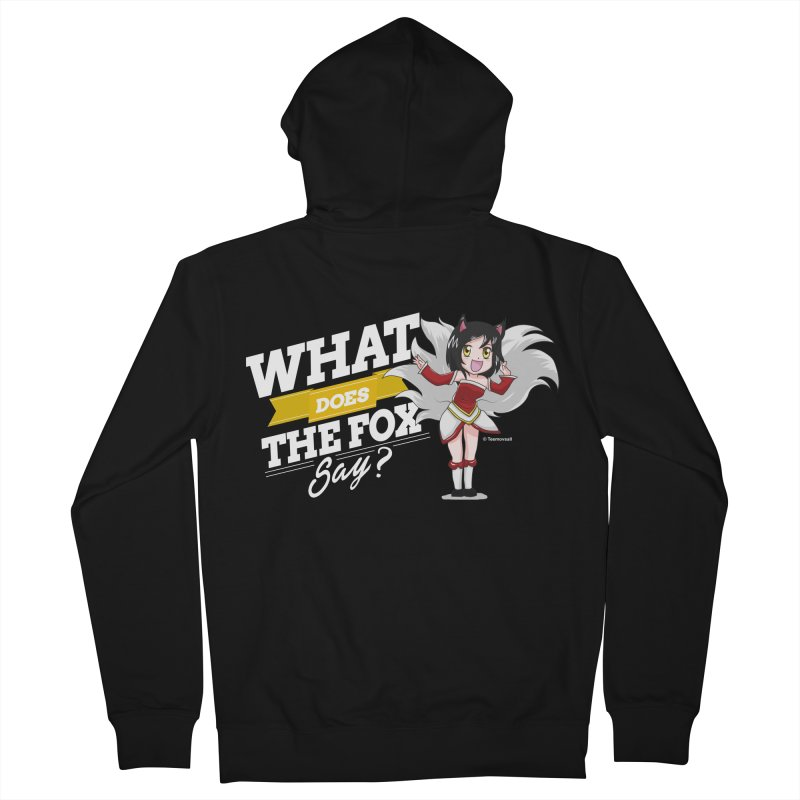 What does the fox say? (White edition) Men's Zip-Up Hoody by Teemovsall Official shop