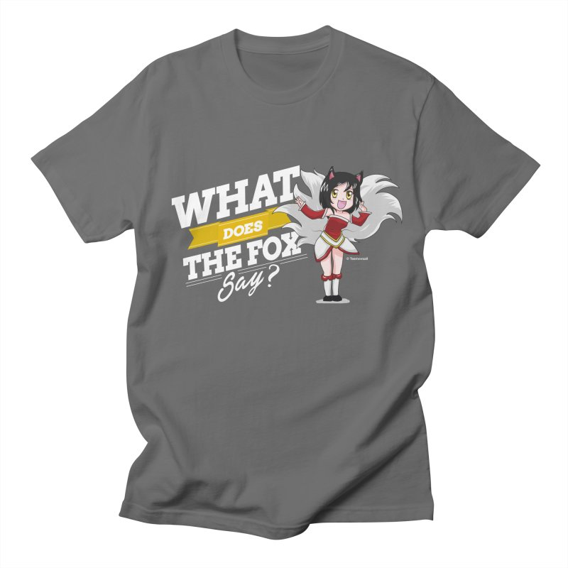 What does the fox say? (White edition) Men's T-Shirt by Teemovsall Official shop