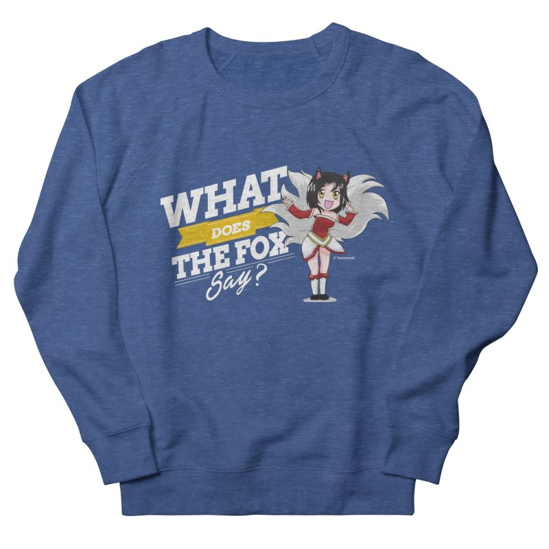 What does the fox say? (White edition) Men's French Terry Sweatshirt by Teemovsall Official shop