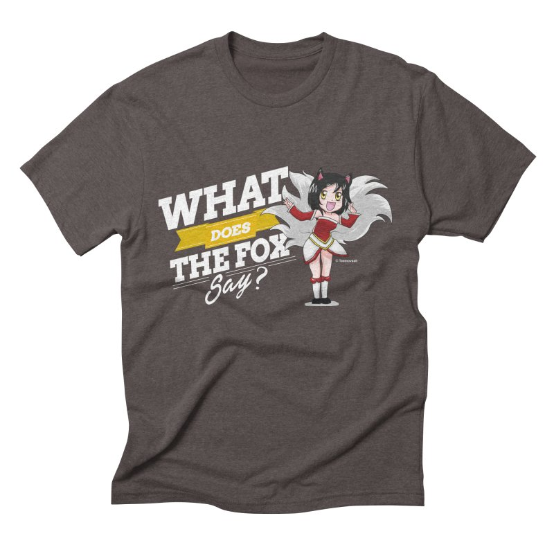 What does the fox say? (White edition) Men's Triblend T-shirt by Teemovsall Official shop