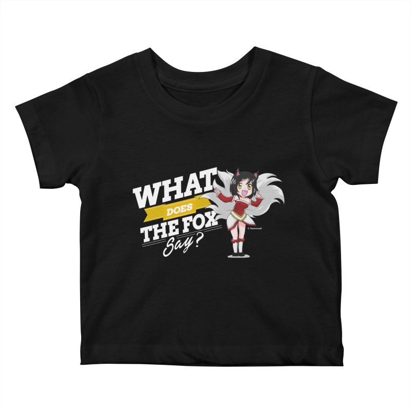 What does the fox say? (White edition) Kids Baby T-Shirt by Teemovsall Official shop