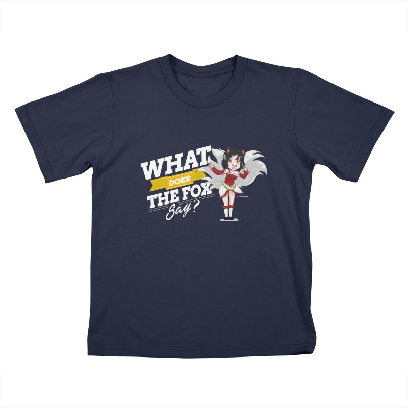 What does the fox say? (White edition) Kids T-shirt by Teemovsall Official shop