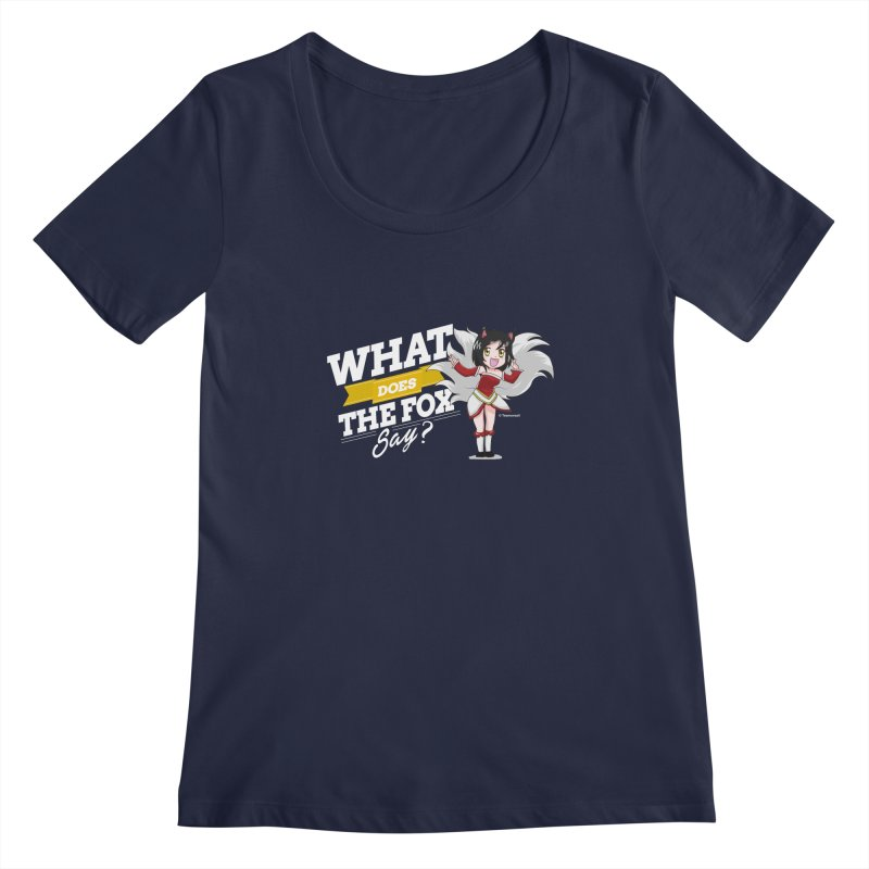 What does the fox say? (White edition) Women's Regular Scoop Neck by Teemovsall Official shop