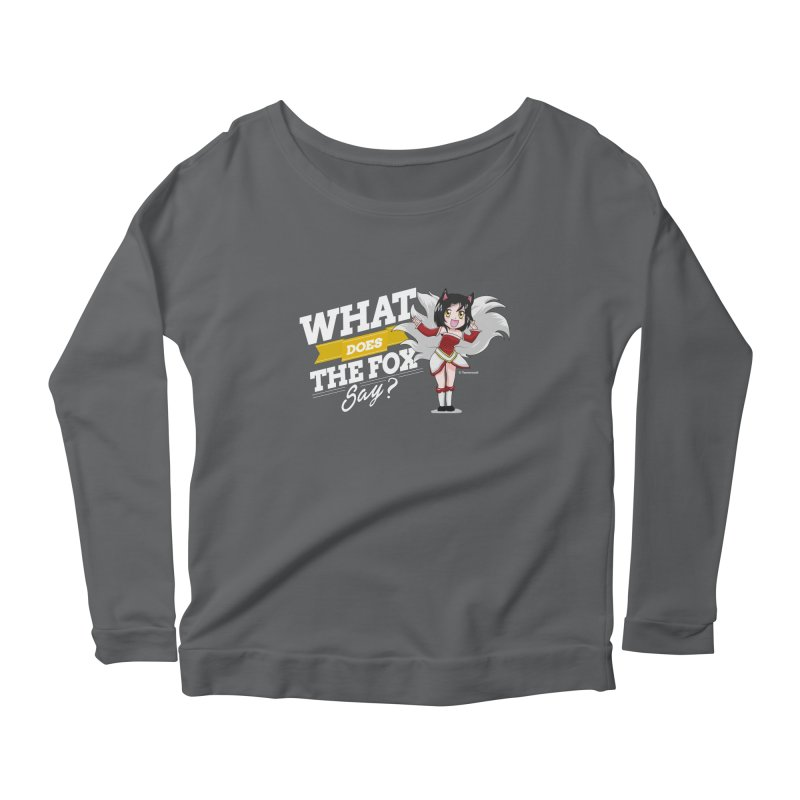 What does the fox say? (White edition) Women's Longsleeve Scoopneck  by Teemovsall Official shop