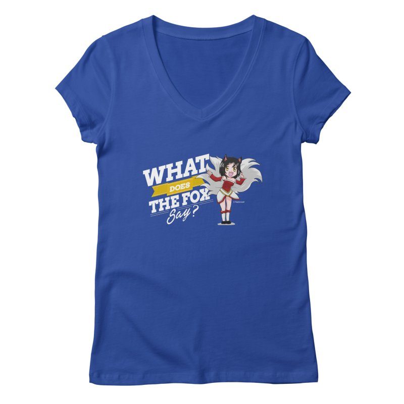 What does the fox say? (White edition) Women's V-Neck by Teemovsall Official shop