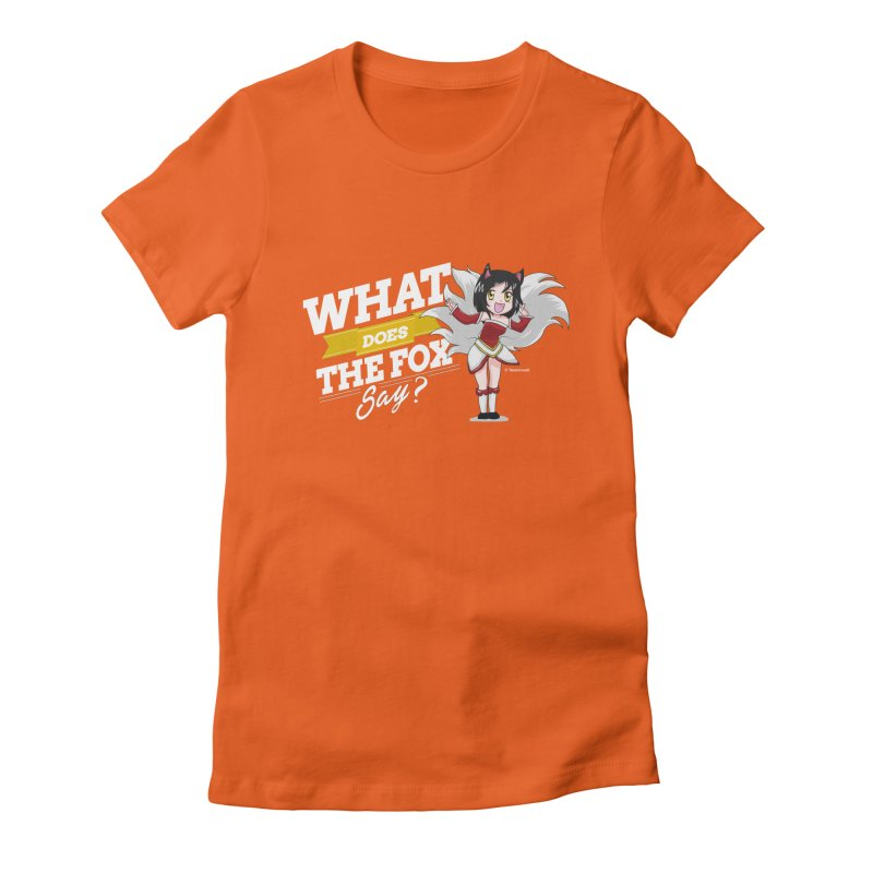 What does the fox say? (White edition) Women's Fitted T-Shirt by Teemovsall Official shop