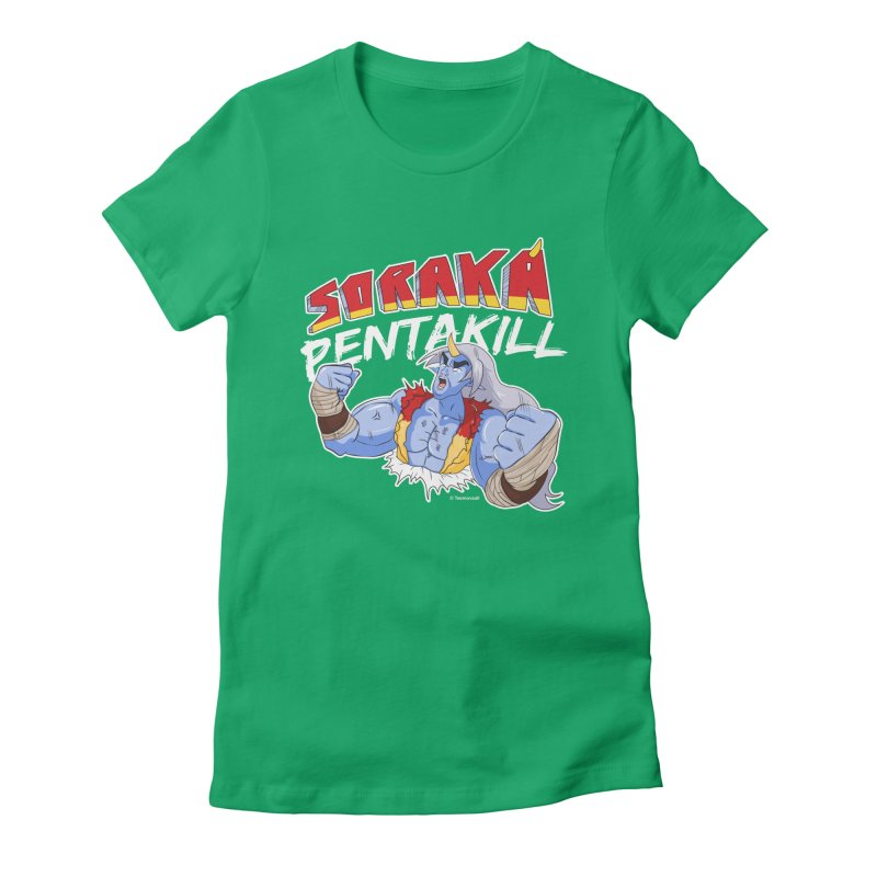 Soraka Pentakill (White Edition) Women's Fitted T-Shirt by Teemovsall Official shop