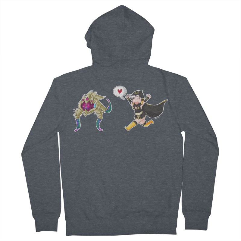 Ashe loves tentacles 2 Women's Zip-Up Hoody by Teemovsall Official shop