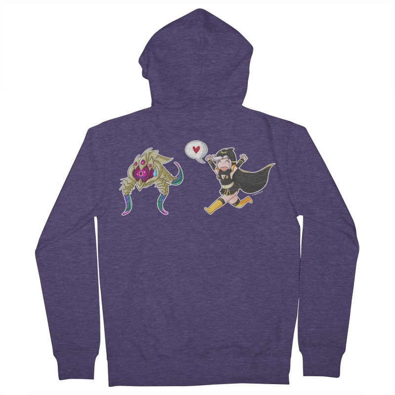 Ashe loves tentacles 2 Men's Zip-Up Hoody by Teemovsall Official shop