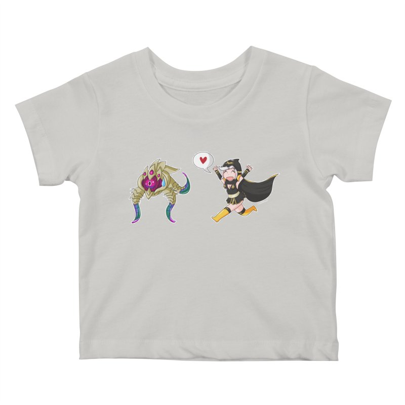 Ashe loves tentacles 2 Kids Baby T-Shirt by Teemovsall Official shop