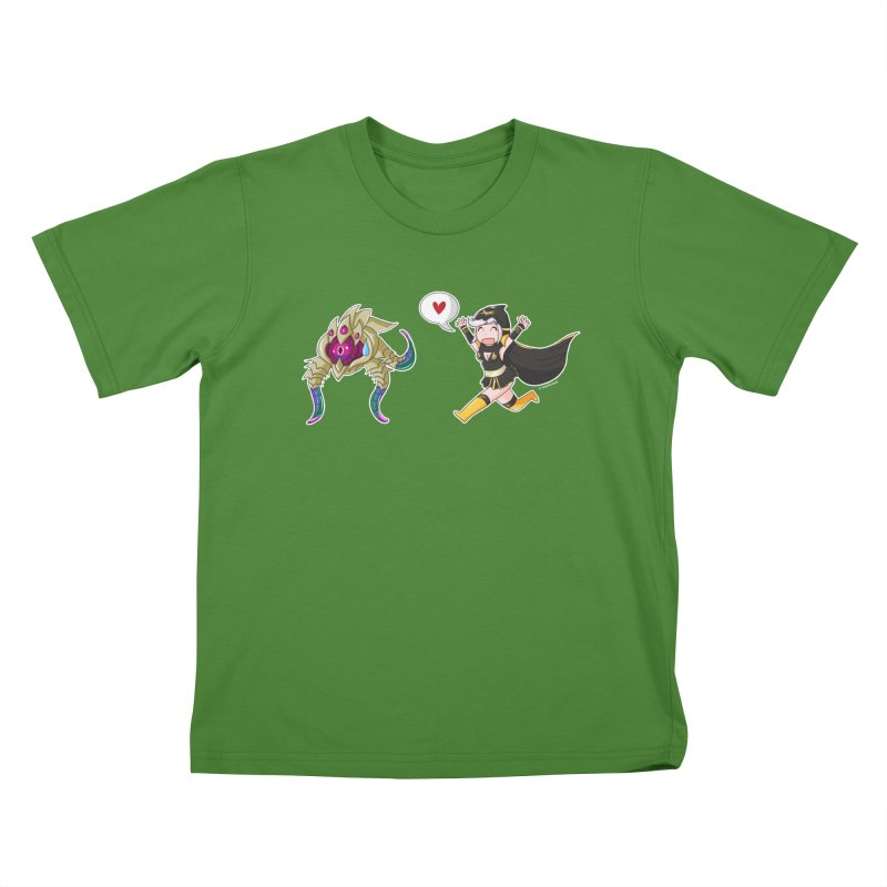 Ashe loves tentacles 2 Kids T-shirt by Teemovsall Official shop