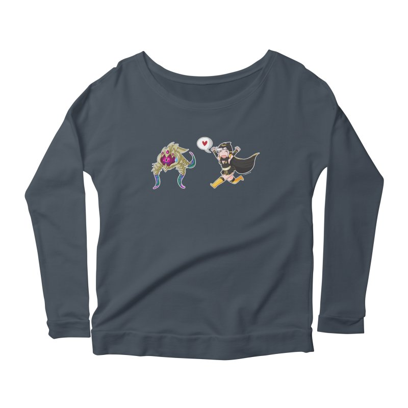 Ashe loves tentacles 2 Women's Longsleeve Scoopneck  by Teemovsall Official shop