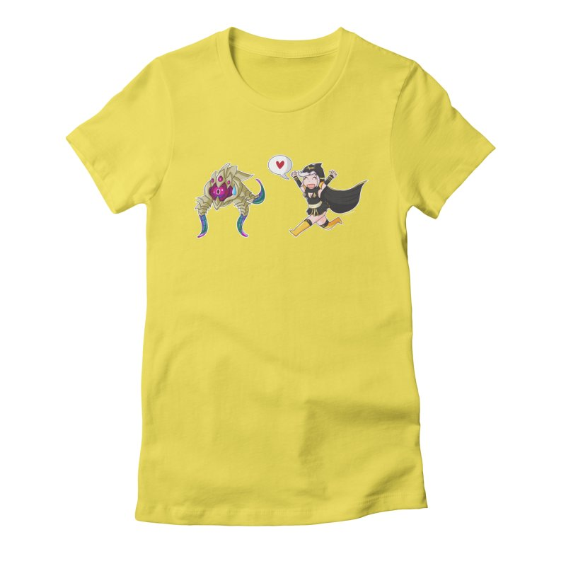 Ashe loves tentacles 2 Women's Fitted T-Shirt by Teemovsall Official shop