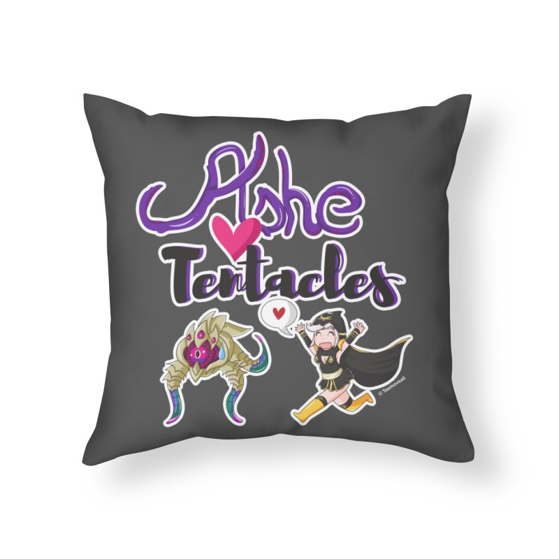 Ashe loves tentacles 1 Home Throw Pillow by Teemovsall Official shop