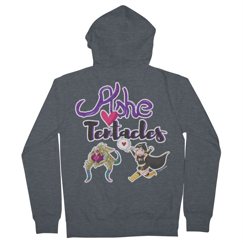 Ashe loves tentacles 1 Women's French Terry Zip-Up Hoody by Teemovsall Official shop