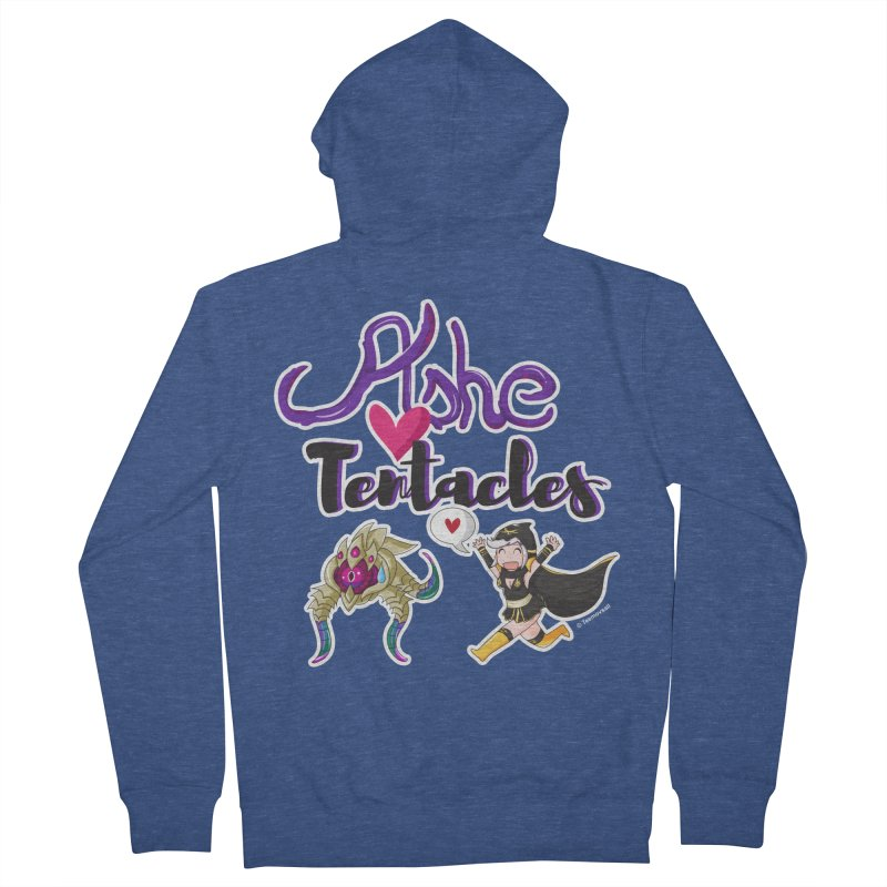 Ashe loves tentacles 1 Men's French Terry Zip-Up Hoody by Teemovsall Official shop