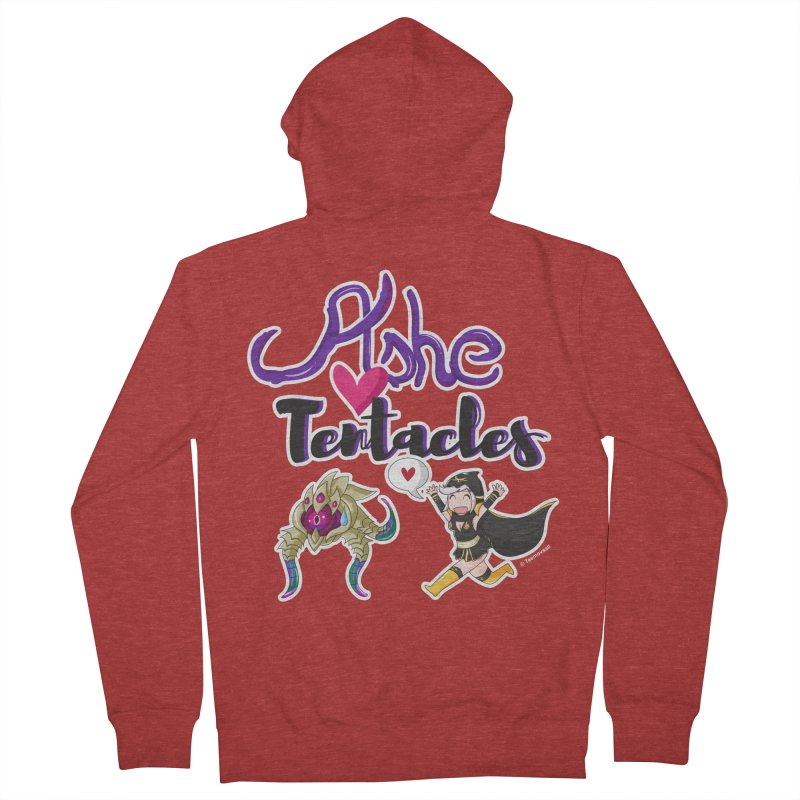 Ashe loves tentacles 1 Men's Zip-Up Hoody by Teemovsall Official shop