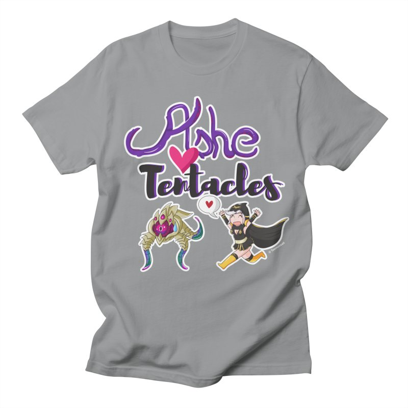 Ashe loves tentacles 1 Men's Regular T-Shirt by Teemovsall Official shop