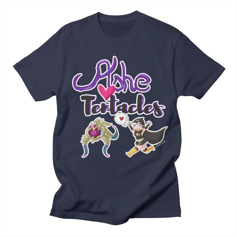 Ashe loves tentacles 1 Men's Regular T-Shirt by Teemovsall Official shop