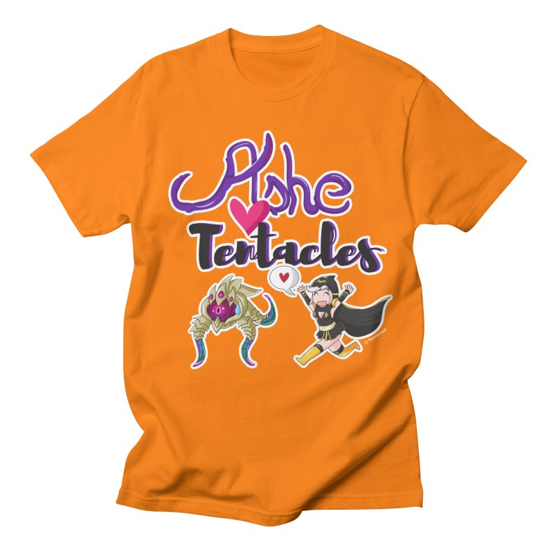 Ashe loves tentacles 1 Men's T-Shirt by Teemovsall Official shop