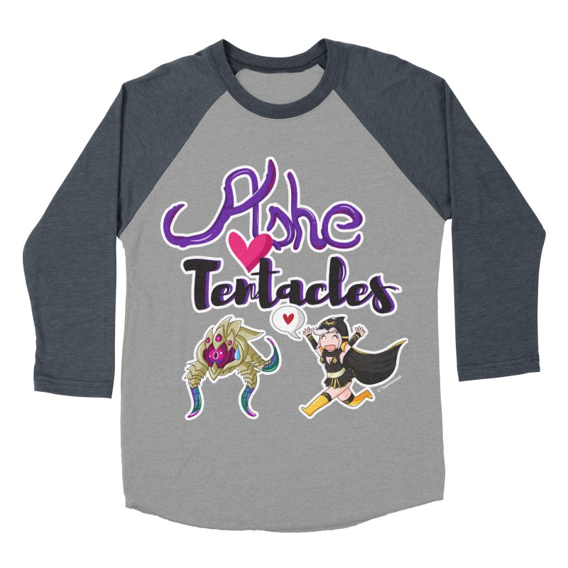 Ashe loves tentacles 1 Men's Baseball Triblend Longsleeve T-Shirt by Teemovsall Official shop