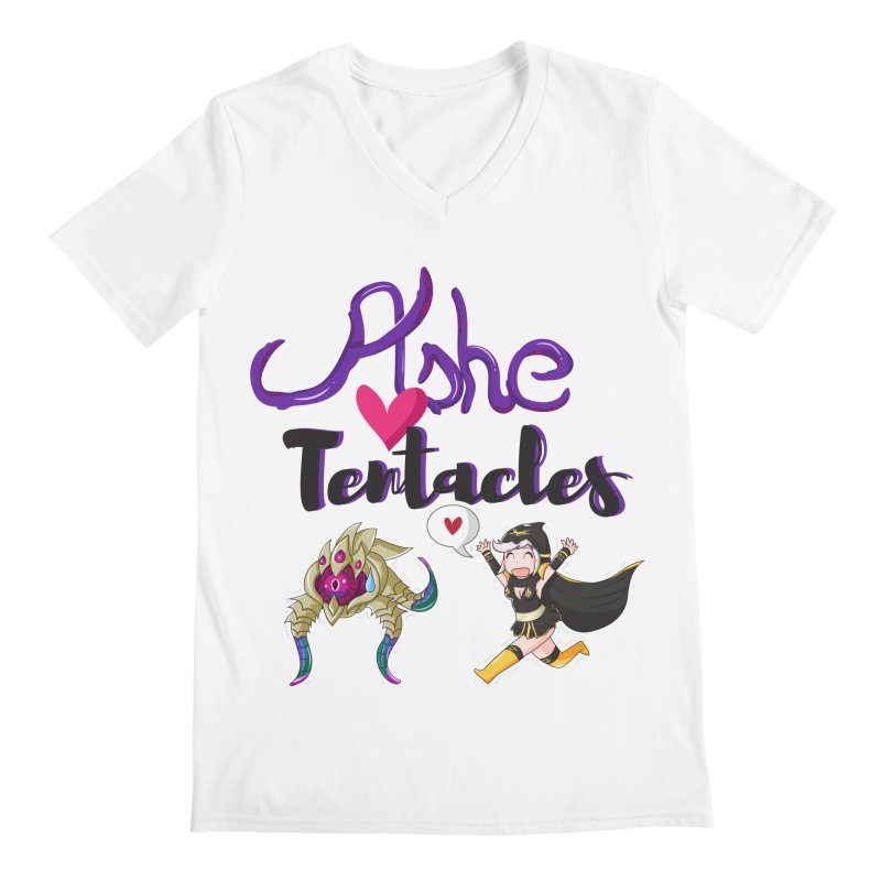 Ashe loves tentacles 1 Men's V-Neck by Teemovsall Official shop