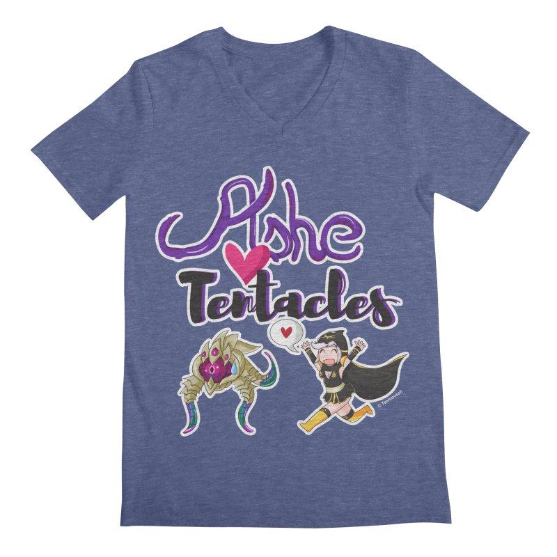 Ashe loves tentacles 1 Men's V-Neck by Teemovsall Official shop