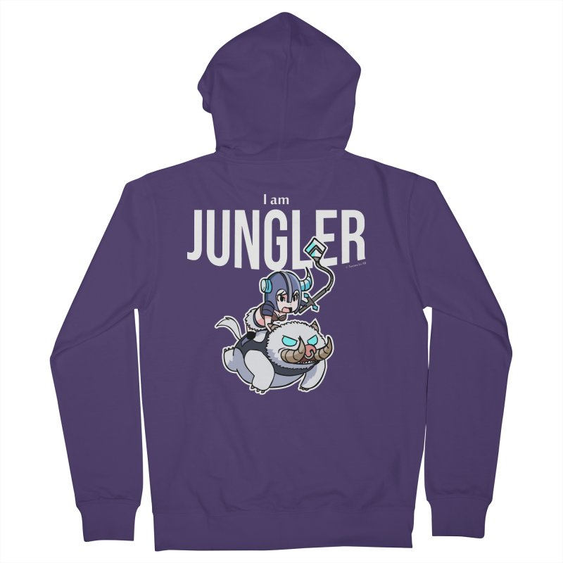 I am jungler Women's French Terry Zip-Up Hoody by Teemovsall Official shop