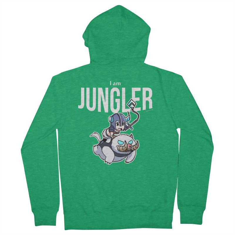 I am jungler Men's French Terry Zip-Up Hoody by Teemovsall Official shop
