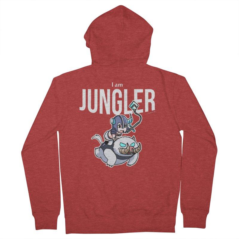 I am jungler Men's Zip-Up Hoody by Teemovsall Official shop