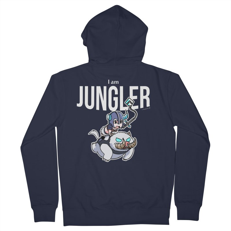 I am jungler Men's Zip-Up Hoody by Teemovsall Official shop