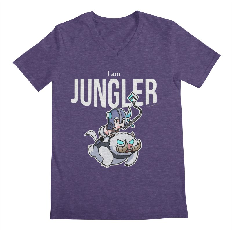 I am jungler Men's Regular V-Neck by Teemovsall Official shop