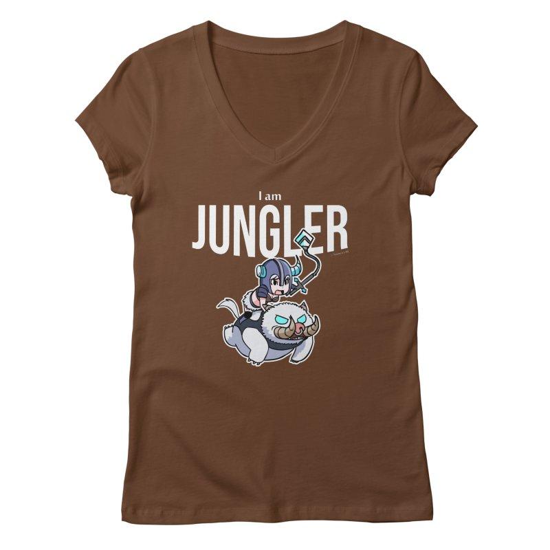 I am jungler Women's V-Neck by Teemovsall Official shop
