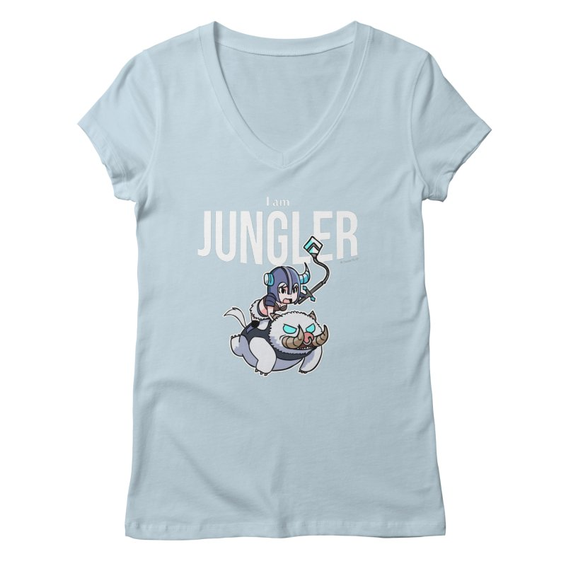 I am jungler Women's V-Neck by Teemovsall Official shop