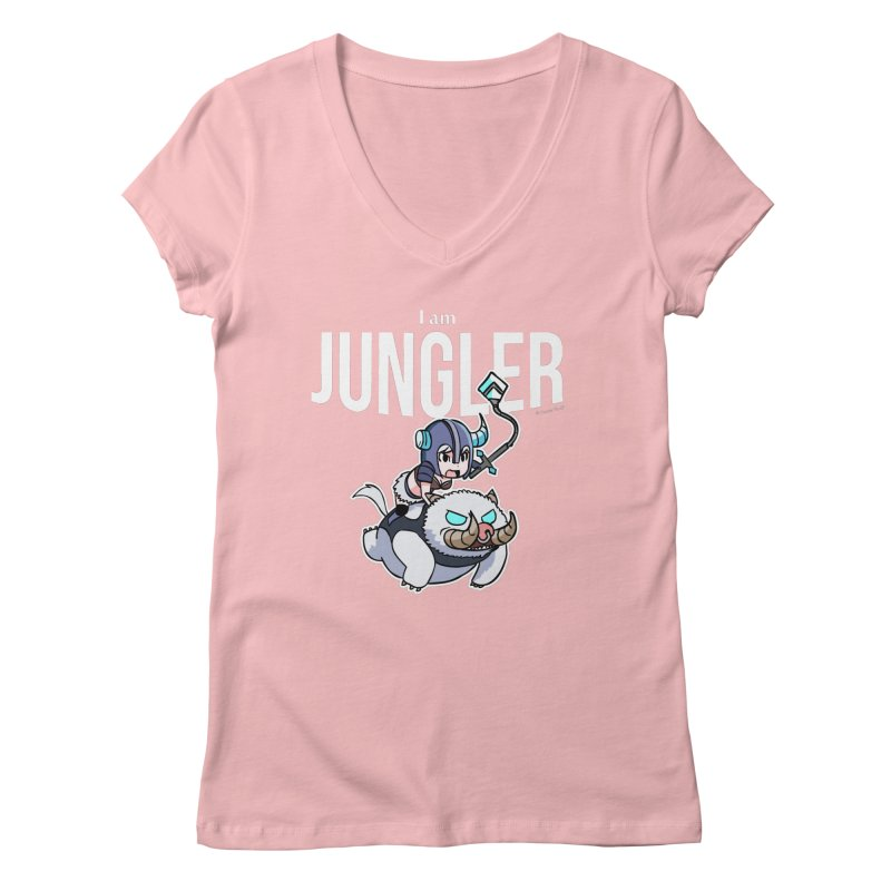 I am jungler Women's Regular V-Neck by Teemovsall Official shop