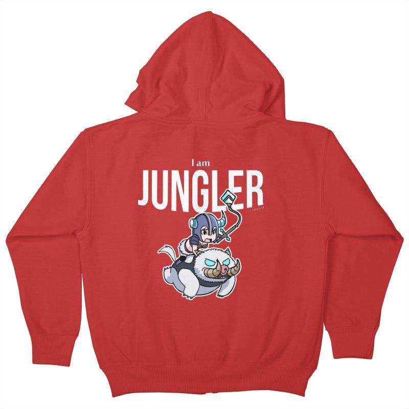 I am jungler Kids Zip-Up Hoody by Teemovsall Official shop