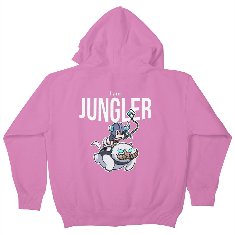 I am jungler Kids Zip-Up Hoody by Teemovsall Official shop