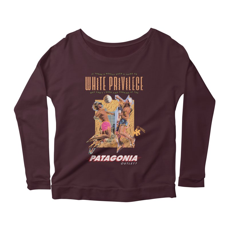 GAME, SET, MATCH Women's Scoop Neck Longsleeve T-Shirt by Teenage Stepdad