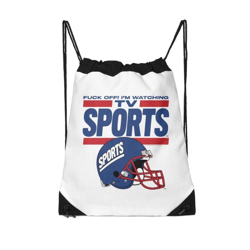 TV SPORTS Accessories Drawstring Bag Bag by Teenage Stepdad